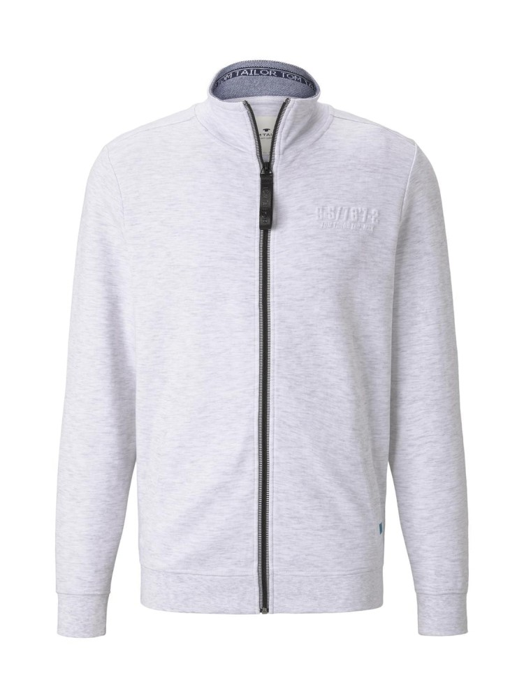 Tom Tailor Sweatjacket with logo tipping 11077